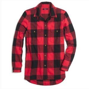 Madewell Red Black Flannel Buffalo Check Shirt